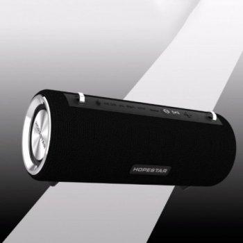 Потужна портативна bluetooth колонка Sound System H39 Pro Hopestar Оригінал 10ВТ з Вологозахистом і функцією Зарядки пристроїв Чорна