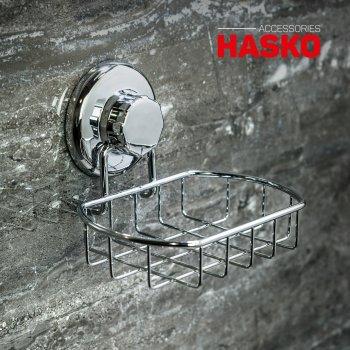 Мыльница на вакуумной присоске Hasko нержавеющая сталь (HA-73121)
