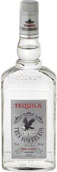 Текила Tres Sombreros Silver 38% 0.7 л (8414771854601)