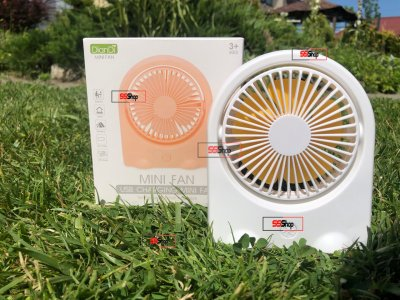 Портативний USB акумуляторний міні вентилятор з поворотним механізмом Mini Fan (DD-5576) Білий
