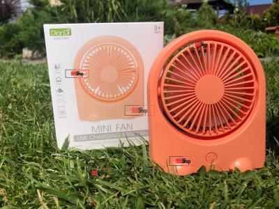 Портативний USB акумуляторний міні вентилятор з поворотним механізмом Mini Fan (DD-5576) Помаранчевий