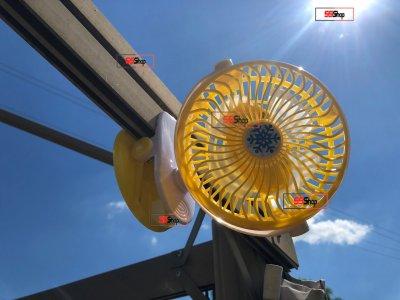 Акумуляторний портативний USB міні вентилятор на прищіпці з поворотним механізмом Mini Fan (ML-F168) Yellow