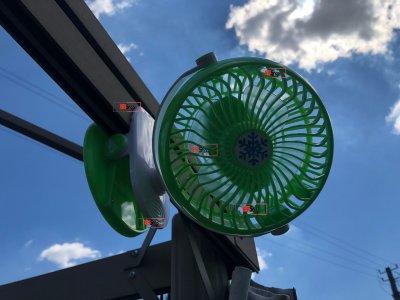 Акумуляторний портативний USB міні вентилятор на прищіпці з поворотним механізмом Mini Fan (ML-F168) Green