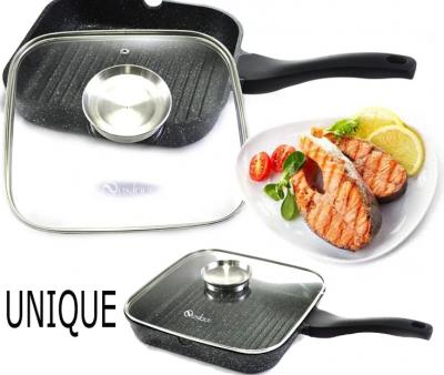 Сковорода-гриль Unique UN-4012 с крышкой 28 см (13767)