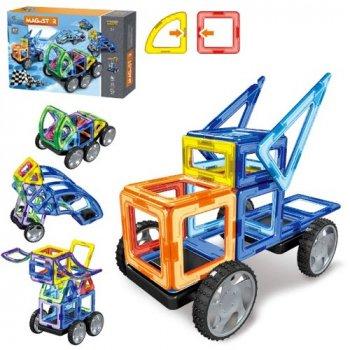 Конструктор магнитный MagniStar LT3003 87 деталей Limo Toy