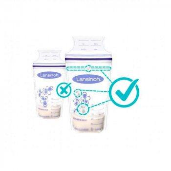 Пакети для зберігання і заморожування грудного молока Lansinoh 25 шт (44204)