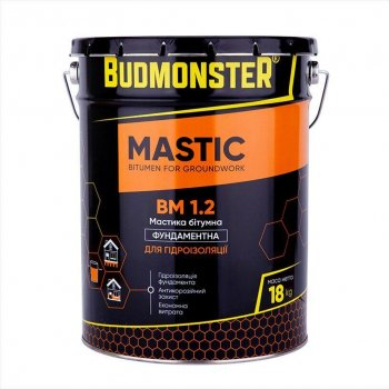 Бітумна Мастика для гідроізоляції фундаменту BudMonster, 18 кг (85226)
