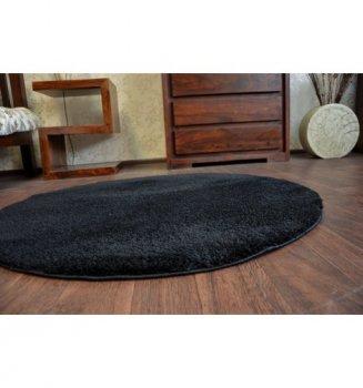 Ковер Лущув круглый SHAGGY MICRO 80 см Черный (GR1925)