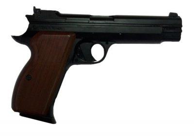 Пневматичний пістолет SAS P210 Sig Sauer P210 Зіг Зауер рухомий затвор газобалонний CO2 120 м/с