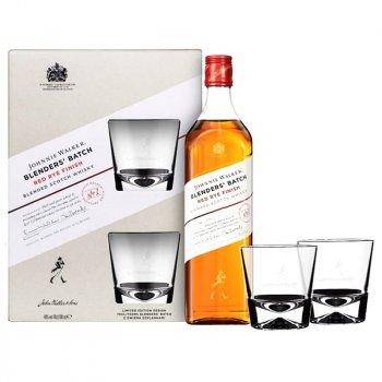 Виски Johnnie Walker Red Rye Finish 0.7 л 40% с 2-мя стаканами (4820178650786)