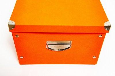 Коробка картонная с металлическими ручками Evoluzione 36 х 48 х 23 см Оранжевая (11)