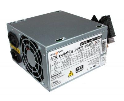 Блок живлення LogicPower 450W ATX-450W, 80 mm, 20+4pin, 1x4pin, SATA х 1, Molex 2x4pin, кабелю немодульні