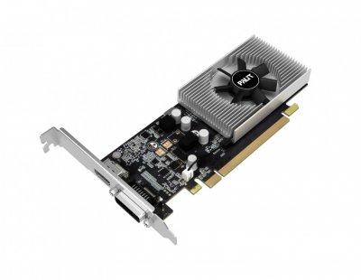 Видеокарта GeForce GT1030 Palit 2Gb DDR5 64bit HDMI/DP 1468/6000MHz Low Profile NE51030006461080F