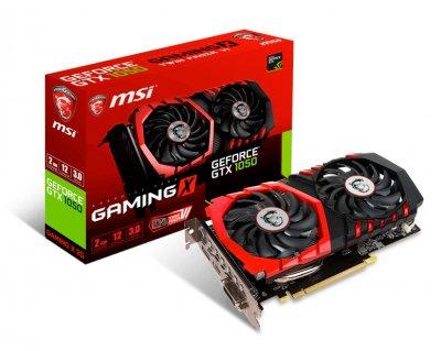 Видеокарта GeForce GTX1050 OC MSI GAMING X 2Gb DDR5 128bit DVI/HDMI/DP 1556/7108 MHz GTX 1050 GAMING X 2G