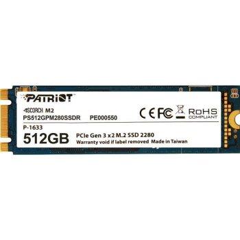 Твердотільний накопичувач M. 2 512Gb Patriot Scorch 2x PCIE TLC 1700/950 MB/s PS512GPM280SSDR