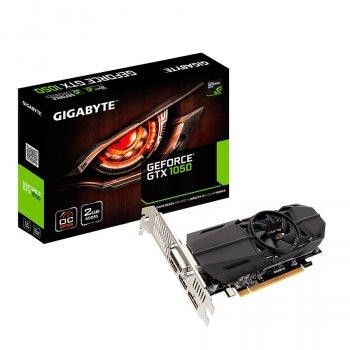 Відеокарта GeForce GTX1050 Gigabyte OC 2Gb DDR5 128bit DVI/2xHDMI/DP 1506/7008 MHz Low Profile GVN1050OC2GL