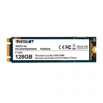 Твердотільний накопичувач M. 2 128Gb Patriot Scorch PCIE 4x TLC 1700/415 MB/s PS128GPM280SSDR