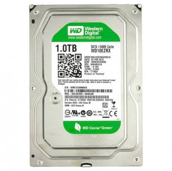 Жорсткий диск 3.5' 1Tb Western Digital Green SATA3 64Mb 5400 rpm WD10EZRX Ref