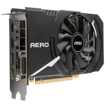 Відеокарта GeForce GTX1060 MSI OC AERO 3Gb DDR5 192bit DVI/2xHDMI/2xDP 1759/8008 MHz GTX 1060 AERO ITX 3G OC