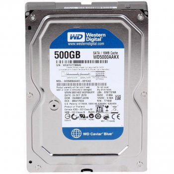 Жорсткий диск 3.5' 500Gb Western Digital Blue SATA3 16Mb 7200 rpm WD5000AAKX Ref