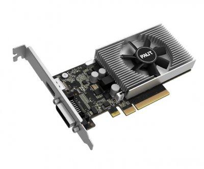 Видеокарта GeForce GT1030 Palit 2Gb DDR4 64bit DVI/HDMI 1379/2100MHz Low Profile NEC1030006461082F