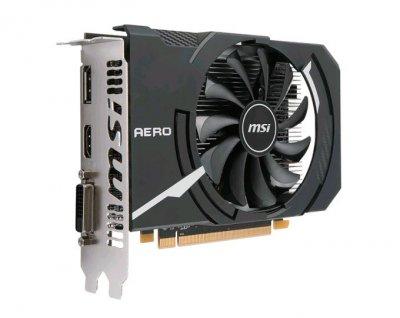 Видеокарта Radeon RX 550 OC MSI AERO ITX 2Gb DDR5 128bit DVI/HDMI/DP 1203/7000MHz RX 550 AERO ITX 2G OC