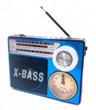 Радіоприймач колонка годинник MP3 Golon RX-722LED синій