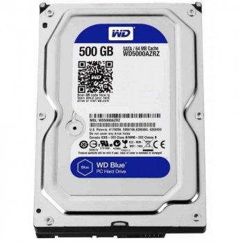 Жорсткий диск 3.5' 500Gb Western Digital Blue SATA3 64Mb 5400 rpm WD5000AZRZ (125032)