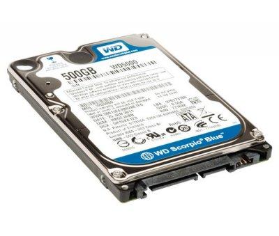 Жорсткий диск 2.5' 500Gb Western Digital Blue, SATA3, 8Mb, 5400 rpm (WD5000LPVX) (Ref)
