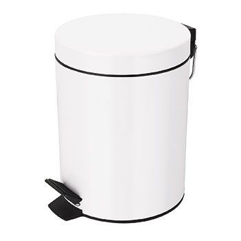 Відро для сміття SPIRELLA Sidney 20х27 см з педаллю біле (10.16395)