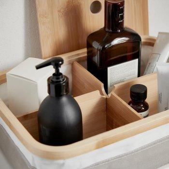 Коробка з відсіками IKEA RABBLA 25x35x10 см коричнева бежева 903.481.24