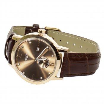 Мужские часы SWIDU SWI-018 Brown + Gold