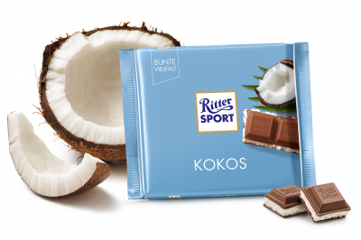 Шоколад молочний Ritter Sport з кокосово-молочним кремом 100 г * 5 шт