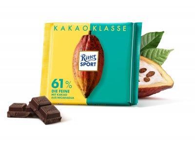 Шоколад Ritter Sport темний 61% 100 г * 5 шт