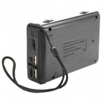 Акустична система Golon радіоприймач колонка з радіо акумуляторна з ліхтариком USB вихід під флешку Чорна (RX-113)