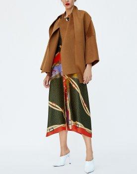 Пальто жіноче розкльошене Charm Berni Fashion Коричневий (55648)