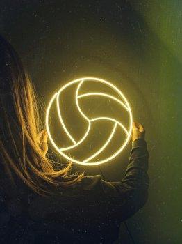 Неонова вивіска «Волейбол»