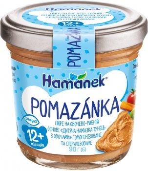Упаковка помазанки Hamanek Тунець з овочами 90 г х 8 шт (8595139798307)