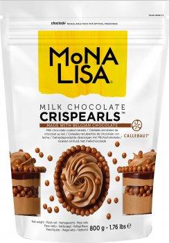 Декор Callebaut Crispearls Milk из молочного бельгийского шоколада в виде шоколадных жемчужин с печеньем внутри 800 г (5410522545623_8711177638171)