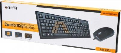 Комплект дротовий A4Tech KRS-8372 USB Black (4711421857765)