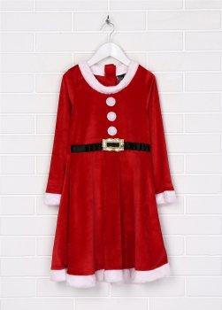 Карнавальный костюм (шапка + платье) H&M Санта-Клаус 5029626 98-104 см Красный (hm00408442273)
