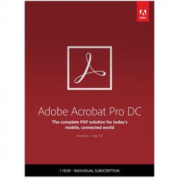 Adobe Acrobat Pro DC for teams. Подовження ліцензії для комерційних організацій і приватних користувачів, річна передплата (VIP Select передплата на 3 роки) на одного користувача в межах замовлення від 50 до 99 (65297928BA13A12)