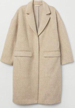 Пальто H&M 0684080-8 Бежеве