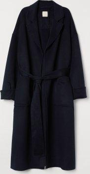 Пальто H&M 0784265-0 Темно-синее