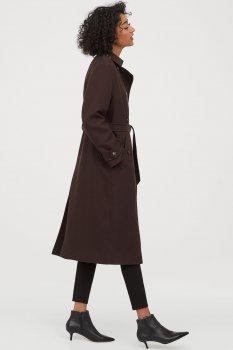 Пальто H&M 0787128-0 Коричневое