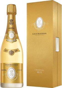 Шампанское Louis Roederer Cristal Vintage 2012 Gift box белое брют 0.75 л 12% (3114081143055_3114080043059)
