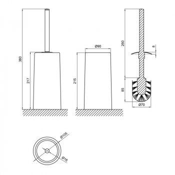 Йоршик для унітазу Lidz (PIN)-121.05.11