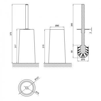 Йоршик для унітазу Lidz (WHI)-121.05.12