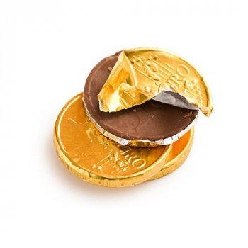 Молочный шоколад в виде монет Евро TRUFF ROYAL 1,5 кг