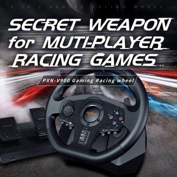 Гоночний кермо ігровий вібраційний з педалями PXN V900 PC/PS3/PS4/Xbox